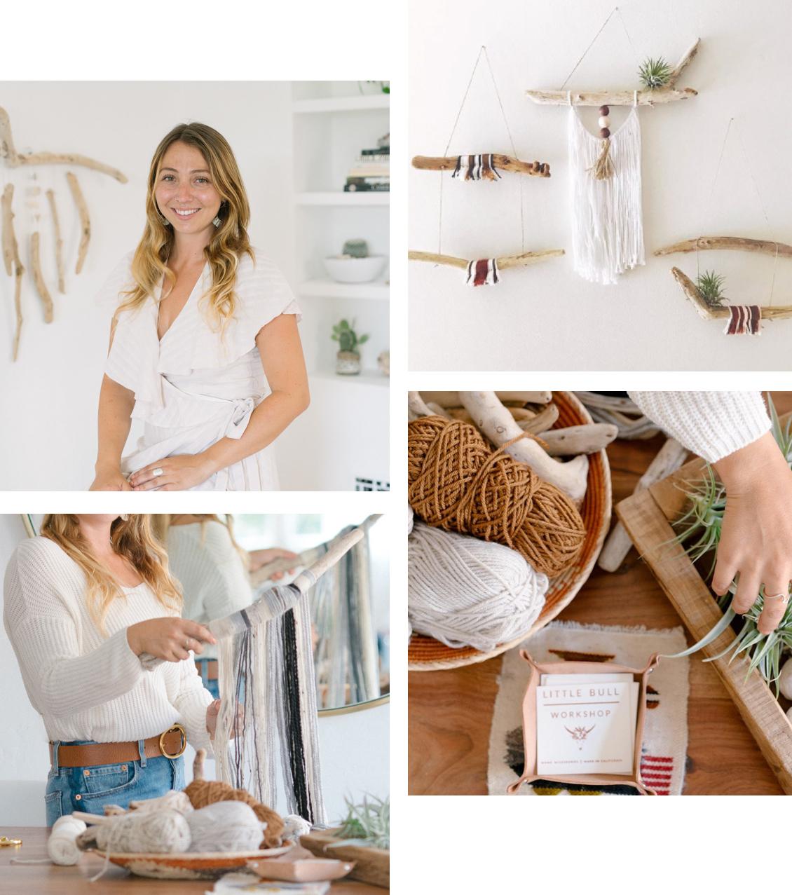 Women making crafts