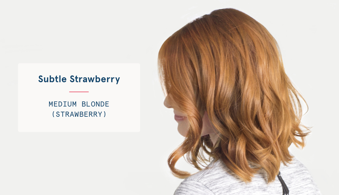 Medium blonde strawberry hair color
