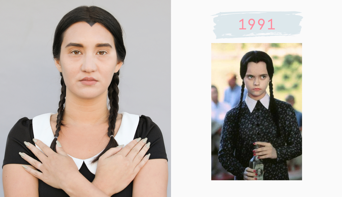 Wednesday Addams hairstyle