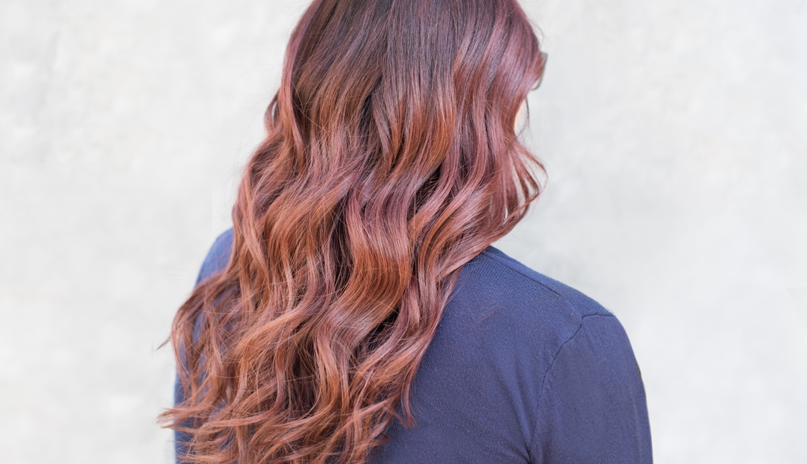 Dark red hair color