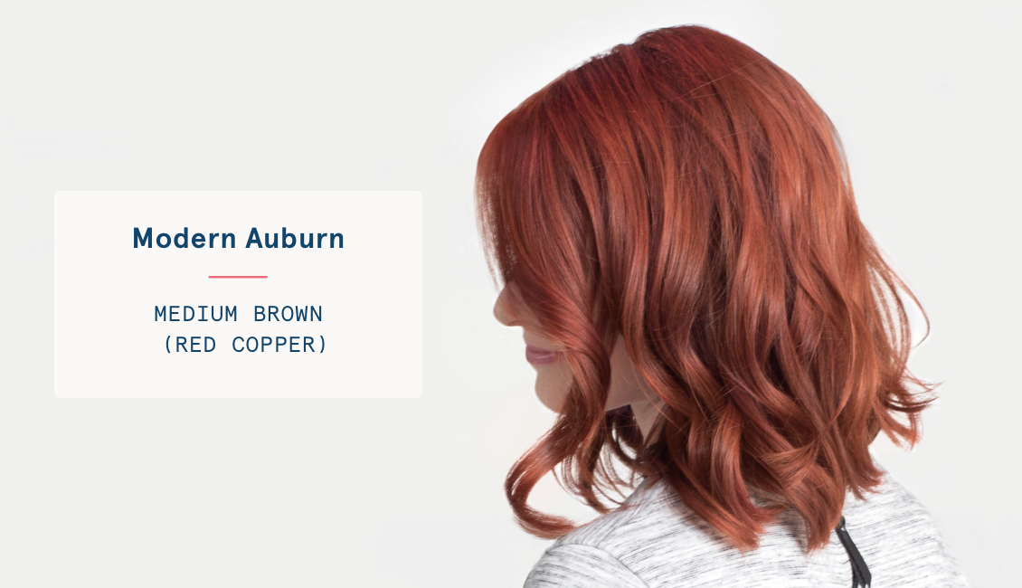 Medium brown red copper hair color