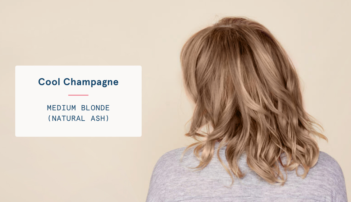 Cool champagne hair color