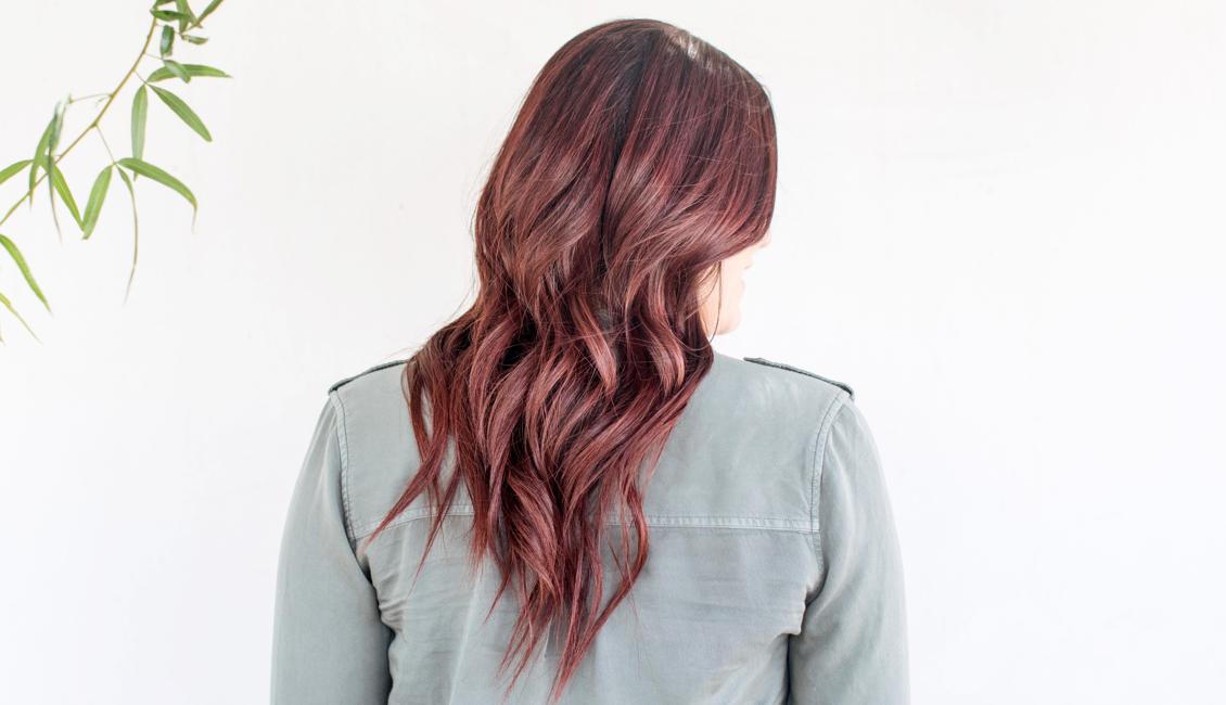Warm chocolate hair color