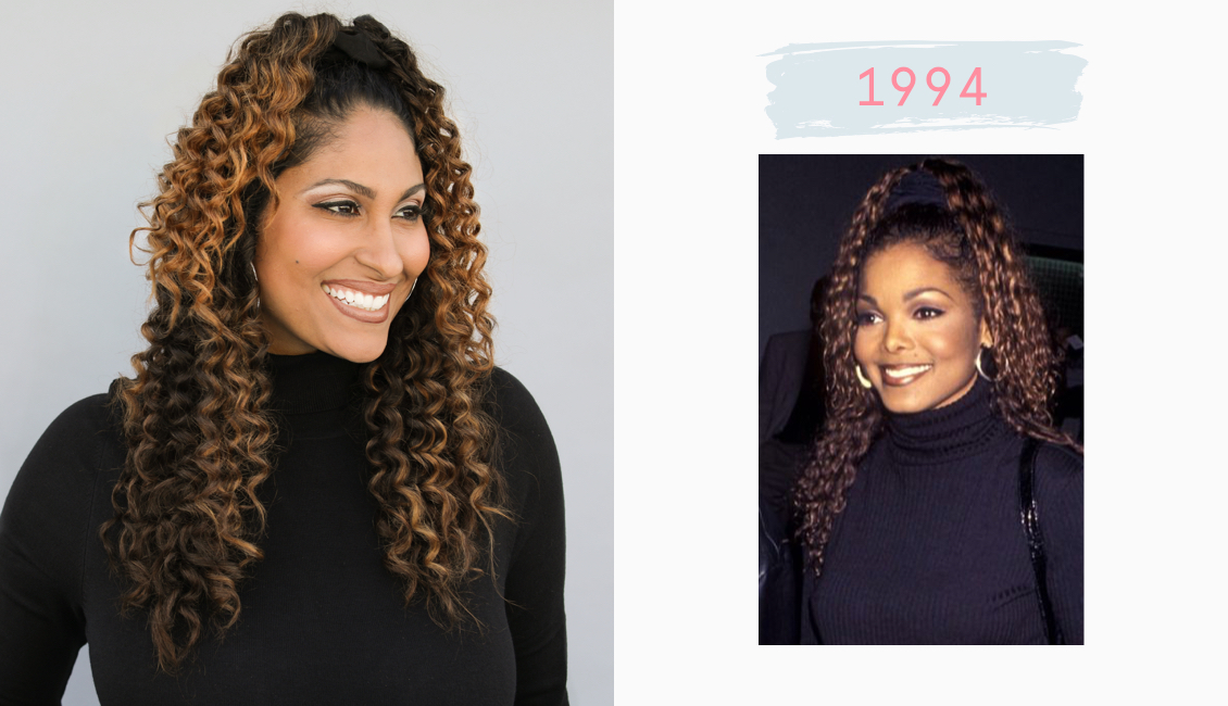 Janet Jackson hairstyle